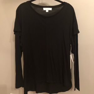 NWT Two by Vince Camuto Ruffle Long Sleeve